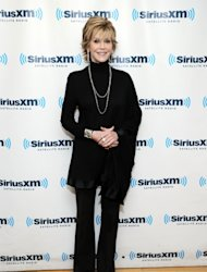 Jane Fonda attends SiriusXM Town Hall With Jane Fonda Hosted By Perri Peltz at SiriusXM Studios on December 3, 2012 in New York City -- Getty Images