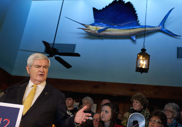 ... town allegedly affected by Bain, Gingrich omits attack against Romney