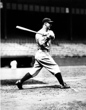 FILE - In this Sept. 16, 1932 file photo, New York Yankees first baseman Lou Gehrig takes practice swings before the start of the 1932 World Series against the Chicago Cubs in New York . A pair of Minnesota legislator are pressing legislation they hope could lead to the release of Lou Gehrig's medical records hoping to learn if the famed New York Yankees first baseman died of repetitive traumas from concussions, rather than Amyotrophic lateral sclerosis (ALS), known as Lou Gehrig's disease. (AP Photo,File)