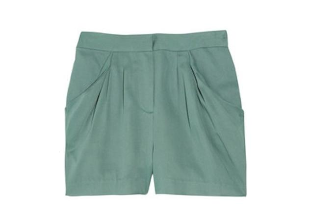 This soft mint color will help you think cool thoughts.  J.Crew Saunter twill shorts, $98,…