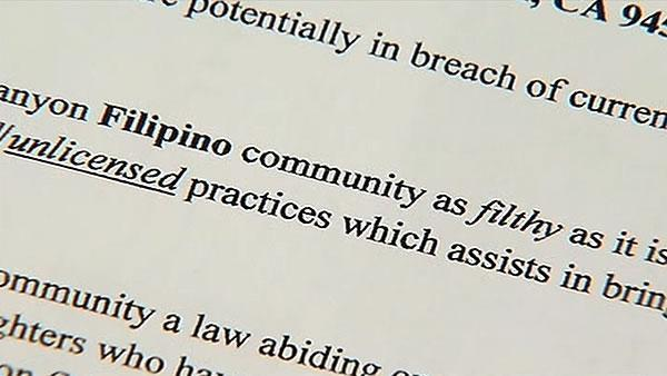 Filipino-Americans in Napa Co. targeted in hate mail