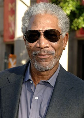 Morgan Freeman at the Hollywood premiere of Warner Bros. Pictures' Batman Begins