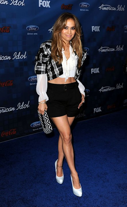 "Jennifer Lopez arrives at the ""American Idol"" Top 13 Finalists Party on Thursday, March 3, 2011 at The Grove in Los Angeles, CA."