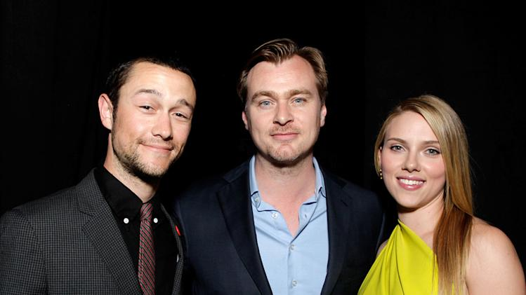 2010 Guys Choice Awards Joseph Gordon Levitt Christopher Nolan Scarlett Johansson