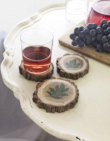 Make Tree-Branch Coasters