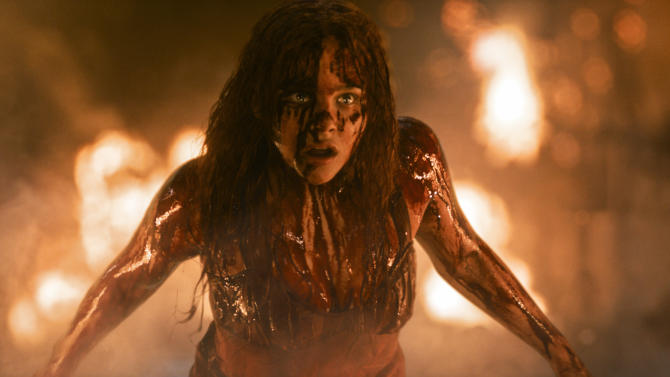 """This photo released by Sony Pictures shows Chloe Moretz in a scene from the horror film, """"Carrie."""" (AP Photo/Sony Pictures)"""