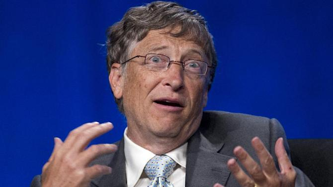 Bill Gates speaks at the XIX International Aids Conference, Monday, July 23, 2012, in Washington. (AP Photo/Carolyn Kaster)