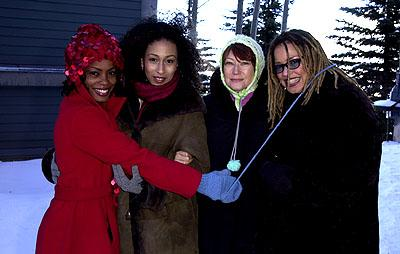 Aunjanue Ellis, Tamara Tunie, Ann Magnuson and Kasi Lemmons of The Caveman's Valentine Sundance Film Festival Day 3 Park City, Utah 1/20/2001