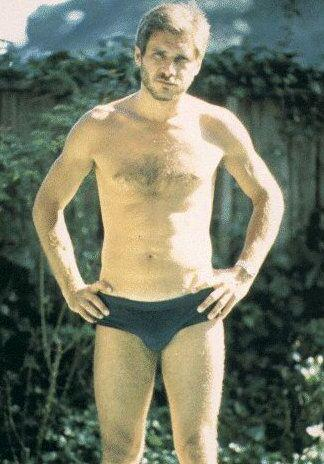 Before rockin' the worlds of stormtroopers, international terrorists, a man with one arm, and Tess McGill; Harrison Ford rocked a Speedo.