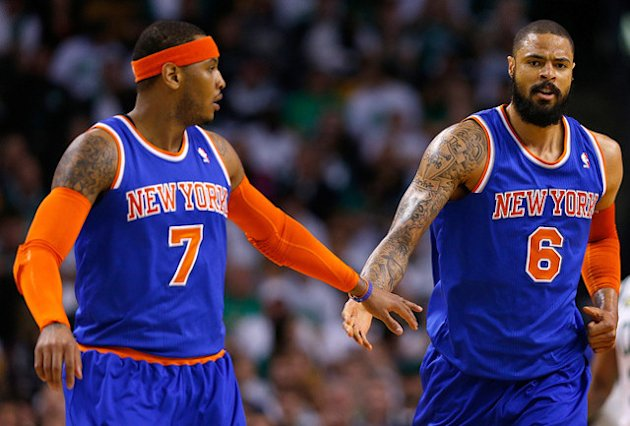 Carmelo Anthony et Tyson Chandler, leaders des New York Knicks
