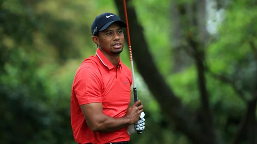 Woods unable to recover from ricochet shot