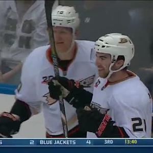 Kyle Palmieri slips a backhander by Nabokov