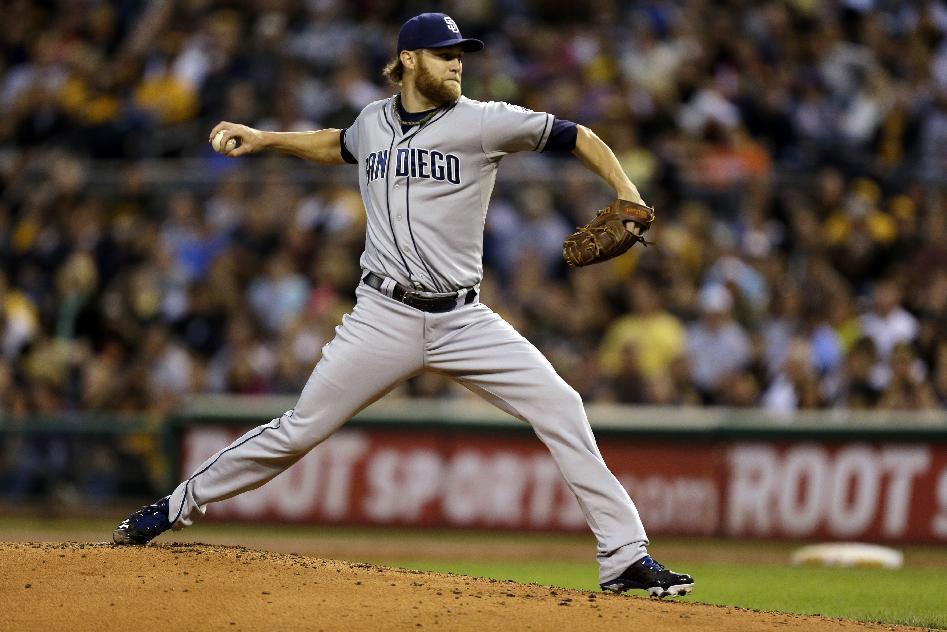 Cashner throws 1-hitter, Padres beat Pirates 2-0