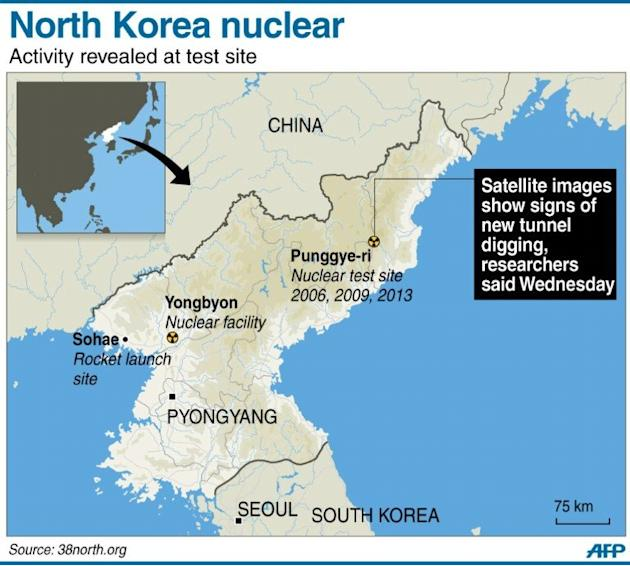 Graphic Site Map: Graphic Map Locating North Korea's Punggye-ri Nuclear Test Site