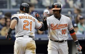 Reimold, Flaherty, Markakis homer, O's top Yankees