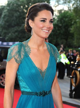 Kate Middleton Jenny Packham Gown and Jimmy Choo Heels At 'Our Greatest Team Rises' Olympic Concert