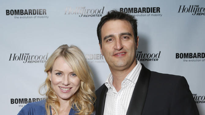 Naomi Watts and Bombardier's Paul Vitagliano are seen at The Hollywood Reporter's Palm Springs Shuttle presented by Bombardier Business Aircraft - Day 2, on Saturday, January 5, 2013 in Palm Springs, California. (Photo by Todd Williamson/Invision for Bombardier/AP Images)