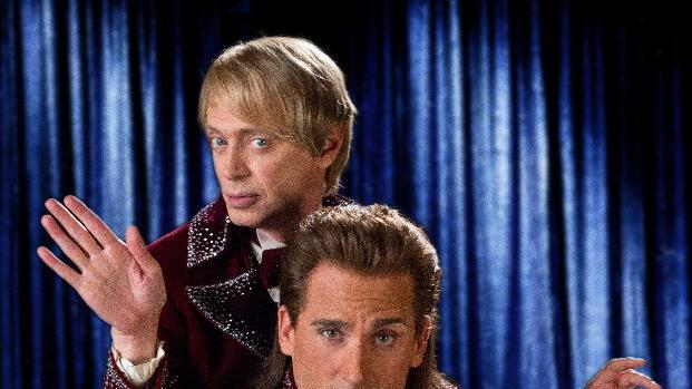 "This undated publicity photo released by Warner Bros. Pictures shows Steve Buscemi, left, as Anton Marvelton and and Steve Carell, as Burt Wonderstone, in New Line Cinema's comedy ""The Incredible Burt Wonderstone,"" a Warner Bros. Pictures release. The Steve Carell magician comedy will kick off the annual South by Southwest film festival in Austin, Texas. It was announced Tuesday, Jan. 15, 2013, that the film will premiere as the opening night film on March 8.  (AP Photo, Warner Bros. Pictures, John P. Johnson)"
