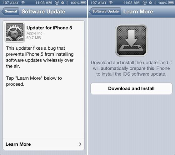 Apple iOS 6.0.1 Update Now Available