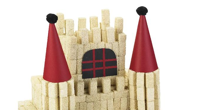 In this undated image released by Michaels, a castle made of Styrofoam brand foam, construction paper and pom-poms is shown. As spring break nears and the days get longer, many parents are searching for meaningful ways to keep children occupied. (AP Photo/Michaels)