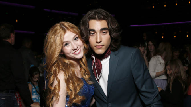 Katherine McNamara and Blake Michael attend the Radio Disney Music Awards at the Nokia Theatre on Saturday, April 27, 2013 in Los Angeles. (Photo by Todd Williamson /Invision/AP)