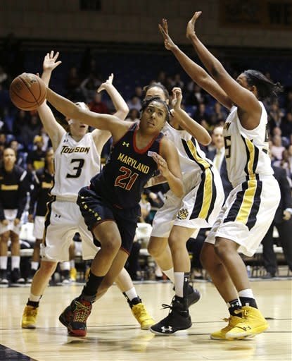 Thomas leads No. 10 Maryland women over Towson