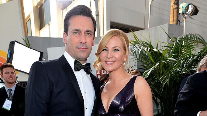 "NBC's ""70th Annual Golden Globe Awards"" - Red Carpet Arrivals: Jon Hamm and Jennifer Westfeldt"