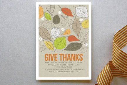 Give Thanks Invitations