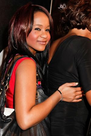 Bobbi Kristina Brown arrives to the The love of R&B Grammy Party at Tru Hollywood, Hollywood, on February 9, 2012 -- WireImage
