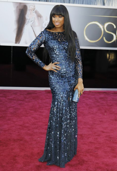 Singer Jennifer Hudson arrives at the 85th Academy Awards in Hollywood