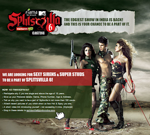 MTV Splitsvilla Battleground Can Give You A Direct Entry To Splitsvilla image MTV splitsvilla casting FB app