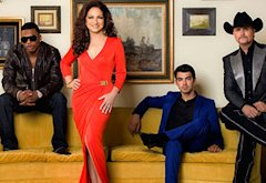 Nelly, Gloria Estefan, Joe Jonas, John Rich | Photo Credits: Kevin Lynch/The CW