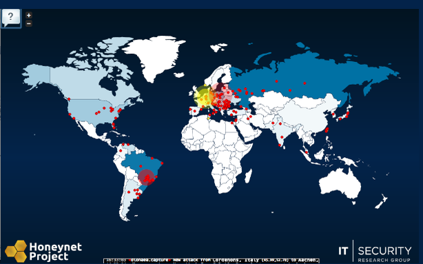 A Real-Time Map of Global Cyberattacks