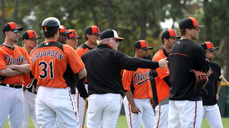 MLB: Baltimore Orioles-First full workout