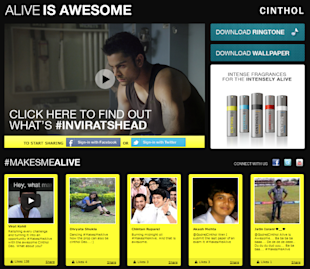 18 Of The Coolest Indian Social Media Campaigns Of Quarter 1 2013 image Alive is awesome inviratshead