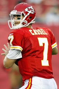 This time Cassel has weapons around him