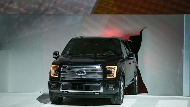 The new Ford F150 is introduced at the 2014 North American International Auto Show.
