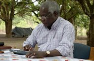 Mozambican civil war commander Afonso Dhlakama is pictured on November 8, 2012, at Gorongosa mountain in Mozambiqu. Dhlakama on Wednesday vowed fresh attacks against President Armando Guebuza's government forces if they do not retreat from positions close to his remote base camp.