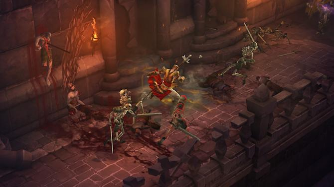"This video game image released by Blizzard Entertainment shows a scene from ""Diablo III."" (AP Photo/Blizzard Entertainment)"