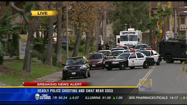 Deadly police shooting and SWAT near SDSU