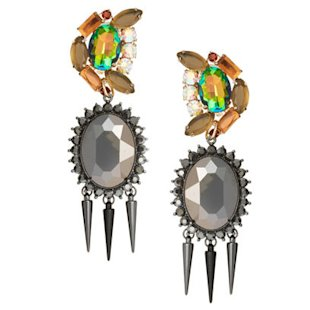 Rhinestone Spike Doorknocker Earrings ASOS: What To Wear: Night Out