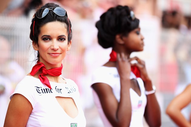 Glamour girls of Formula One