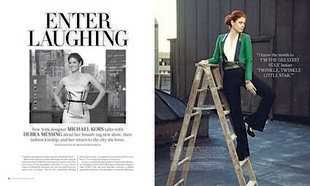 debra messing cover of gotham magazine