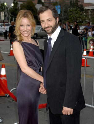 Leslie Mann and  director Judd Apatow at the Westwood premiere of Universal Pictures' Knocked Up