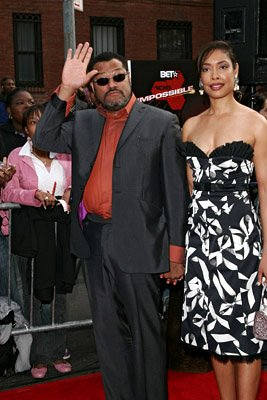 Premiere: Laurence Fishburne and Gina Torres at the NY premiere of Paramount's Mission: Impossible III - 5/3/2006