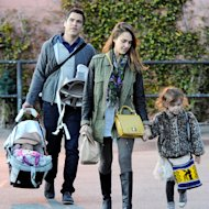 Jessica Alba, Cash Warren and daughters