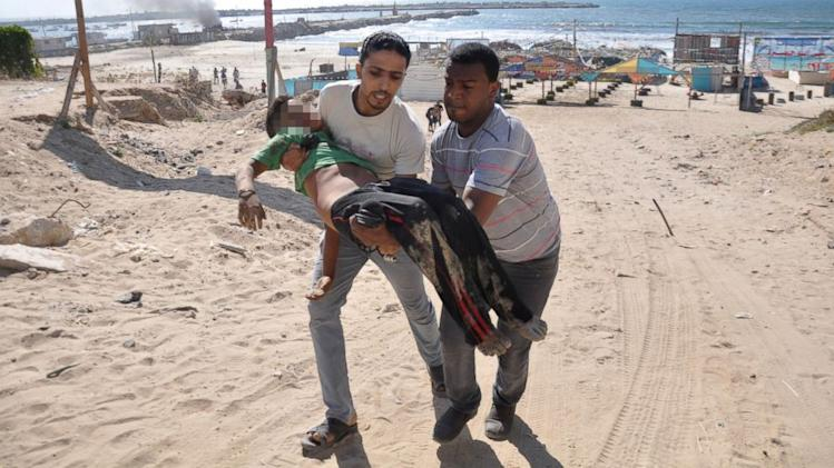 Israeli Strike Kills Four Boys Playing on Gaza Beach
