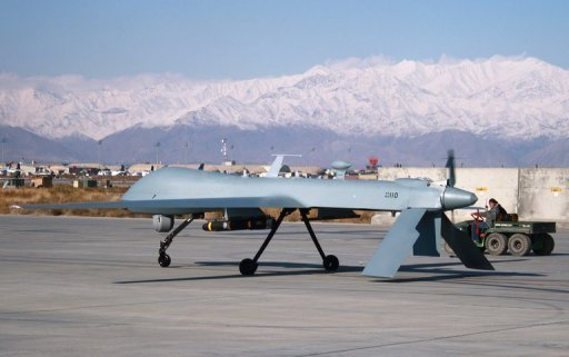 "A US Predator drone sets off from its hangar at Bagram air base in Afghanistan. Yemen has asked for US drones to be used ""in some cases"" to target Al-Qaeda leaders in the country, its foreign minister told AFP"