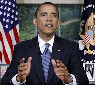 AP Photo: President Barack Obama addresses the nation on the Gulf oil spill from the Oval Office.