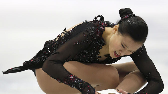 Christina Gao of the United States performs during the women's free skating event at the ISU Four Continents Figure Skating Championships in Osaka, Japan, Sunday, Feb. 10, 2013. (AP Photo/Shizuo Kambayashi)